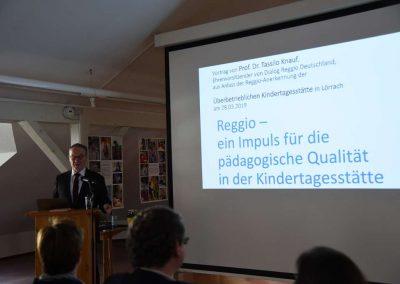 Prof. Dr. Knauf (28.03.2019 - Zertifizierung zur reggio-inspirierten Einrichtung)